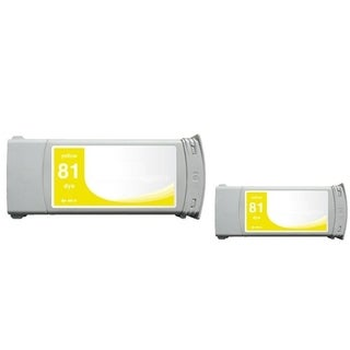 INSTEN Yellow Ink Cartridge for HP C4933A (Remanufactured) (Pack of 2)