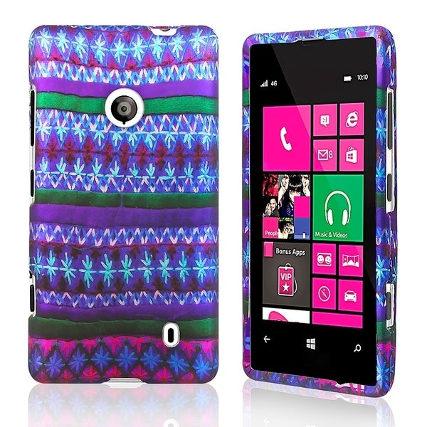BasAcc African Pattern Rubber Coated Case for Nokia Lumia 521