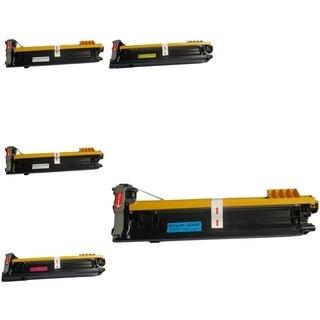 Insten Premium 2BCMY Color Toner Cartridge A0DK132/ A0DK432/ A0DK332/ A0DK232 for MagiColor 4650 Series
