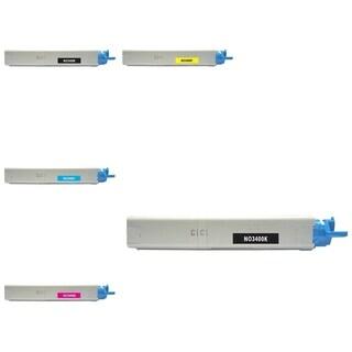 Insten Premium 2BCMY Color Toner Cartridge 43459304/ 43459303/ 43459302/ 43459301 for OKI C3300/ C3400C3520