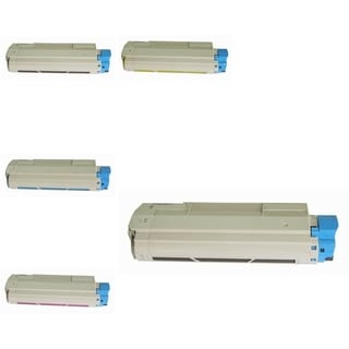 Insten Premium 2BCMY Color Toner Cartridge 44315304/ 44315303/ 44315302/ 443153031 for OKI C610