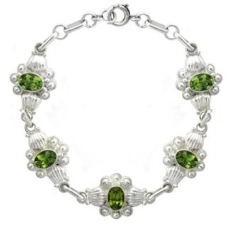 Glitzy Rocks Sterling Silver Peridot Bracelet