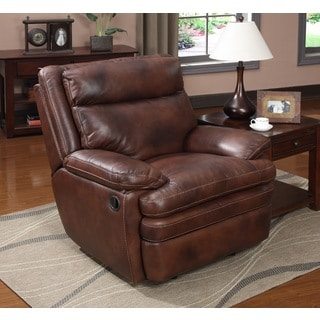 Shop At Home Designs Saddle Brown Clarkston Recliner