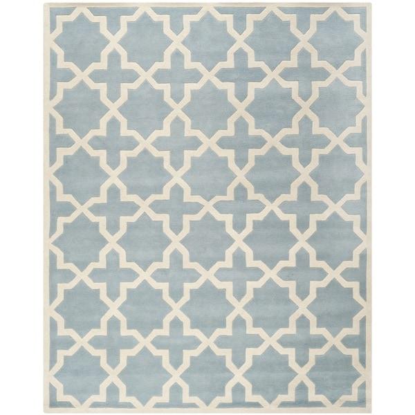 Safavieh Handmade Moroccan Chatham Geometric Pattern Blue