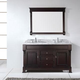 Virtu USA Huntshire 60-inch Double Sink Bathroom Vanity Set