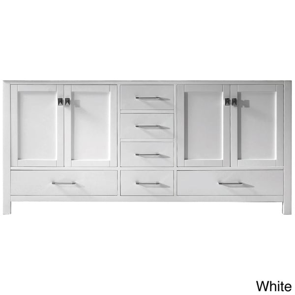 Virtu usa caroline avenue 72 inch double sink bathroom for Bathroom 72 inch vanity