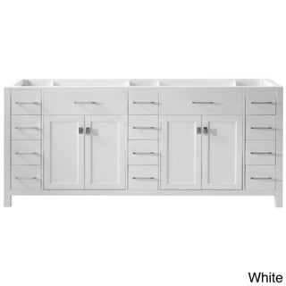 Virtu USA Caroline Parkway 78-inch Double Sink Bathroom Vanity Cabinet