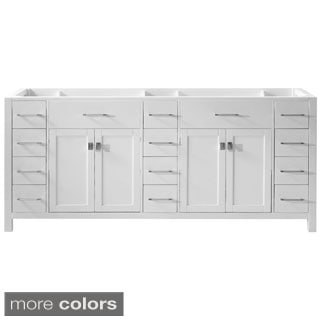 Virtu USA Caroline Parkway 78-inch Double Sink Bathroom Vanity Cabinet