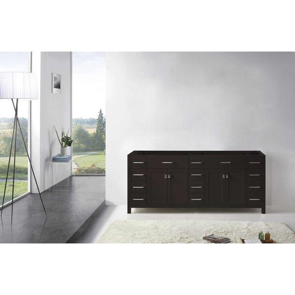 Virtu USA Caroline Parkway 78 Inch Double Sink Bathroom Vanity Cabinet    Free Shipping Today   Overstock.com   15683519