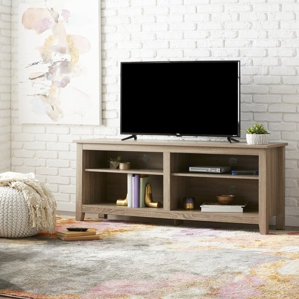 58 Inch Driftwood Tv Stand Free Shipping Today