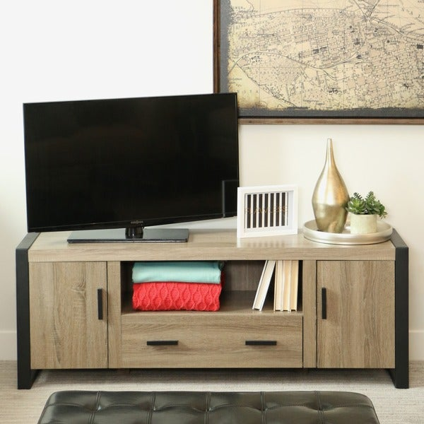 60inch urban blend wood tv stand
