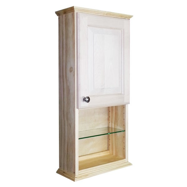 Ashley Series 30x25 Inch Unfinished On The Wall Cabinet With Glass