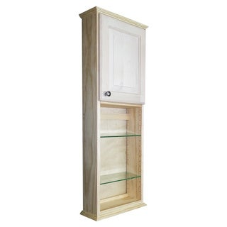 Ashley Series 42x2.5-inch Unfinished Wood Wall Cabinet with Shelves