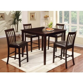 Furniture of America Laguna Espresso Modern Counter-height 5-piece Dining Set