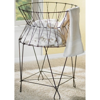 Vintage Collapsible Wire Laundry Basket Hamper