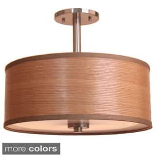 3-light 15-inch Single Shade Satin Nickel Semi-flush Mount|https://ak1.ostkcdn.com/images/products/8379195/3-light-15-inch-Single-Shade-Satin-Nickel-Semi-flush-Mount-P15683631.jpg?impolicy=medium