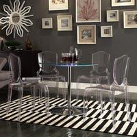 Lorin LED Round Crystal Clear 5-piece Dining Set by iNSPIRE Q Modern