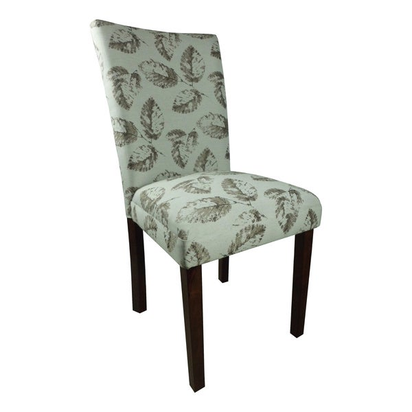 Teal brown leaf print parson chairs set of 2 free for Teal and brown chair