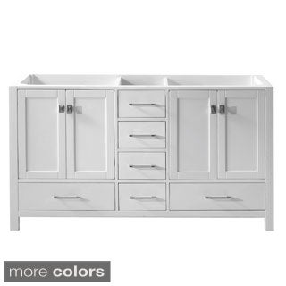 Virtu USA Caroline Avenue 60-inch Double Sink Bathroom Cabinet Only