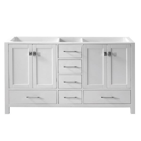 Virtu USA Caroline Avenue 60-inch Double Sink Bathroom Vanity cabinet Only