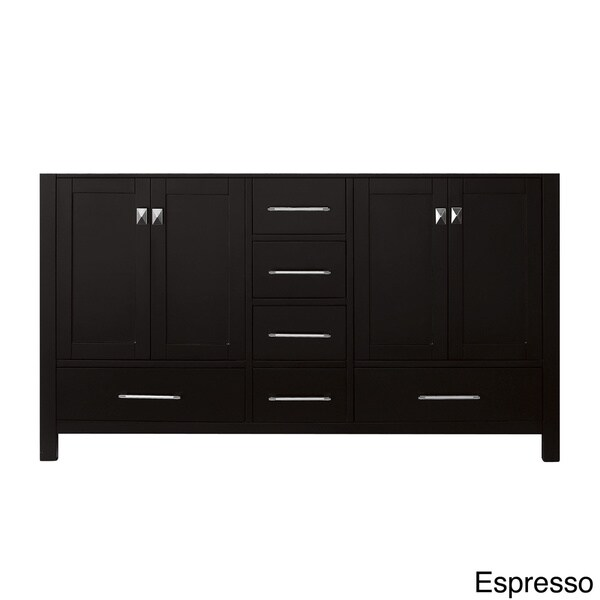 High Quality Virtu USA Caroline Avenue 60 Inch Double Sink Bathroom Vanity Cabinet Only    Free Shipping Today   Overstock.com   15683667