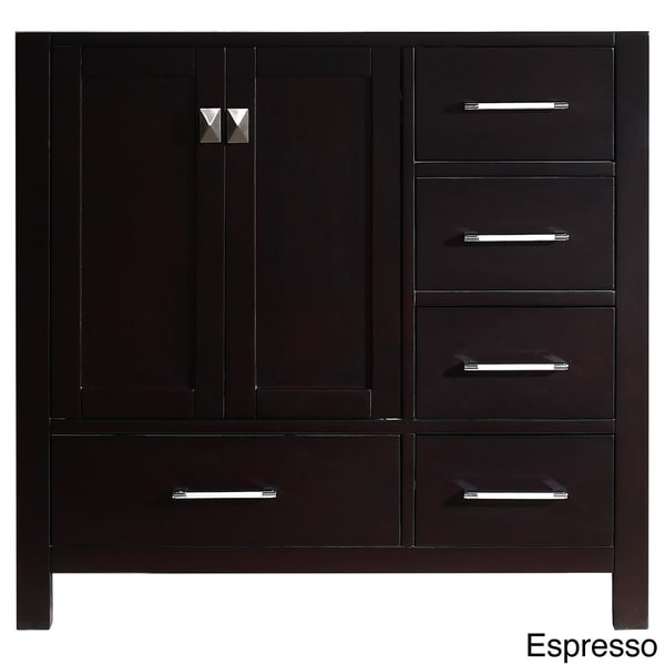 Shop virtu usa caroline avenue 36 inch single sink bathroom vanity cabinet free shipping today for Bathroom vanity cabinet 36 inches