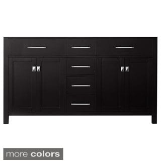 Virtu USA Caroline 60-inch Double Sink Bathroom Vanity Cabinet