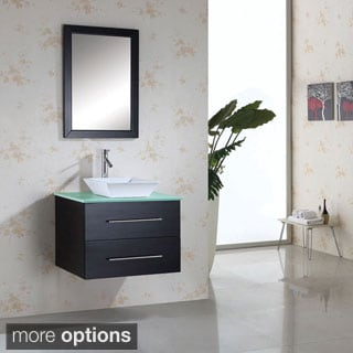 Virtu USA Marsala 30 Inch Single Sink Bathroom Vanity Set