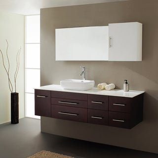Virtu USA Justine 59-inch Single Sink Bathroom Vanity Set
