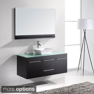 Virtu USA Marsala 48-inch Single Sink Bathroom Vanity Set with Faucet and Top Options