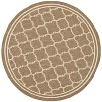 Safavieh Indoor/ Outdoor Courtyard Brown/ Bone Rug - 4' x 4'