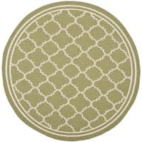 Safavieh Indoor/ Outdoor Courtyard Green/ Beige Rug - 4' Round
