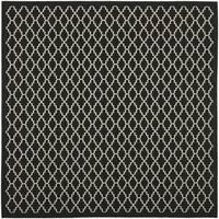 "Safavieh Indoor/ Outdoor Courtyard Contemporary Black/ Beige Rug (5'3"" Square)"