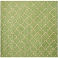 Safavieh Handmade Moroccan Chatham Green Wool Rug - 5' Square