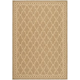 Safavieh Courtyard Trellis All-Weather Dark Beige/ Beige Indoor/ Outdoor Rug (9' x 12')