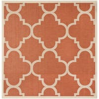Safavieh Courtyard Quatrefoil Terracotta Indoor/ Outdoor Rug - 4' Square