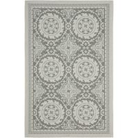 Safavieh Indoor/ Outdoor Courtyard Light Grey/ Anthracite Rug - 8' X 11'
