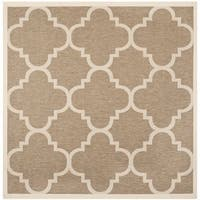 Safavieh Courtyard Quatrefoil Brown Indoor/ Outdoor Rug - 4' Square