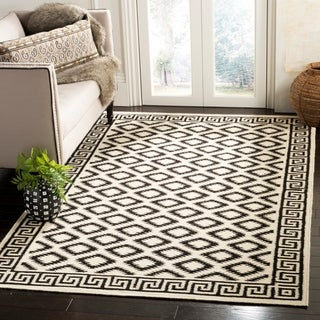 Safavieh Hand-woven Moroccan Reversible Dhurrie Ivory/ Black Wool Rug (9' x 12')