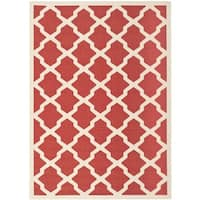 Safavieh Courtyard Moroccan Trellis Red/ Bone Indoor/ Outdoor Rug - 8' X 11'