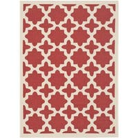Safavieh Courtyard All-Weather Red/ Bone Indoor/ Outdoor Rug - 9' x 12'