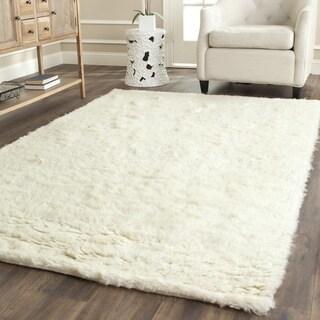 Safavieh Handmade Flokati Ivory Wool Rug (4' Square)