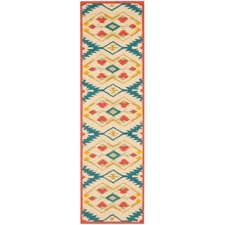 Safavieh Hand-Hooked Four Seasons Southwestern Natural/ Blue Polyester Rug (2'3 x 10')