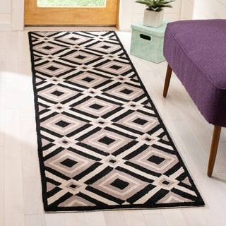 Safavieh Indoor/ Outdoor Four Seasons Black/ Grey Rug (2' x 3')