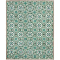 Safavieh Hand-Hooked Four Seasons Mint Green/ Aqua Blue Polyester Rug - 6' x 9'