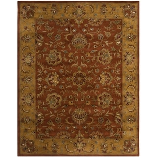 Safavieh Handmade Heritage Timeless Traditional Rust/ Beige Wool Rug (10' x 14')
