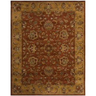 Safavieh Handmade Heritage Timeless Traditional Rust/ Beige Wool Rug (11' x 15')