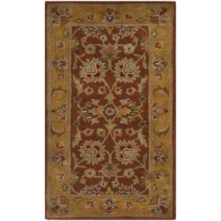 Safavieh Handmade Heritage Timeless Traditional Rust/ Beige Wool Rug (2' x 3')