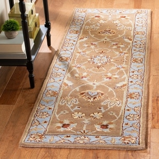 Safavieh Handmade Heritage Timeless Traditional Brown/ Blue Wool Rug (2'6 x 6')