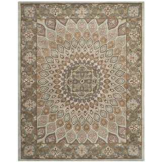 Safavieh Handmade Heritage Timeless Traditional Blue/ Grey Wool Rug (9' x 12')